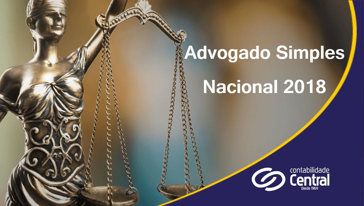 Advogado Simples Nacional 2018